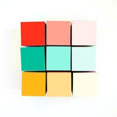 wooden gradient blocks