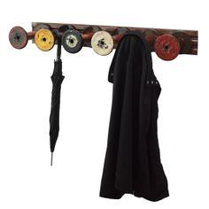 Reclaimed Textile Spool Coat Rack $175