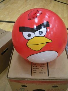 Angry Birds Live! YW/YM combined activity idea. Like the painted balls on this one... instead of giant bean bags..