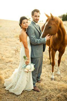 Petting zoo meets wedding = Love.