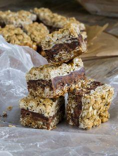 Gluten Free Oatmeal Cookie Chocolate Caramel Bars