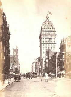 Market Street with the Call Bldg SF Cal 1900 by loganinkosovo, via Flickr