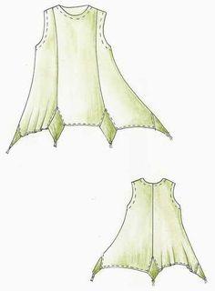 creativ insert, cloth, style idea, sew pattern, sewing tunics