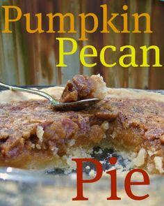 pumpkin pecan pie #recipe