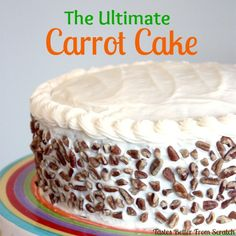 The Best Carrot Cake Recipe with Cream Cheese Frosting--perfecly moist, light and delicious cake--Throw away every other carrot cake recipe you have! This one is AMAZING