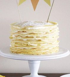 Crème Brûlée Crepe Cake