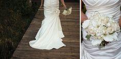 White bridal bouquet   Rustic Vancouver Wedding