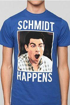 Schmidt happens new girl tee