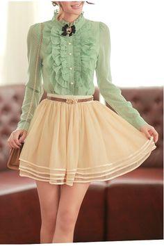 Ivory Layered Skirt, iAnyWear layered skirt, layer skirt