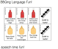 Speech Time Fun: BBQing Language Fun!-variety pack with various language goals in a BBQ/picnic theme. Pinned by SOS Inc. Resources. Follow all our boards at pinterest.com/sostherapy for therapy resources.