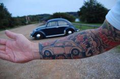 Volkswagen Beetle tattoo