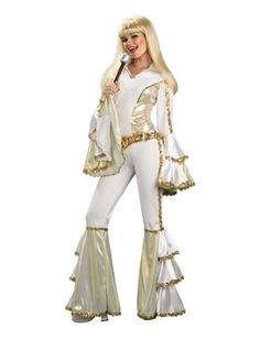 Rubie's Costume Rubies ABBA 70s Girl Disco Queen Outfit Halloween Costume