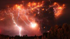 lightning erupting over puyehe-cordon-caulle volcano range in chile (via npr)