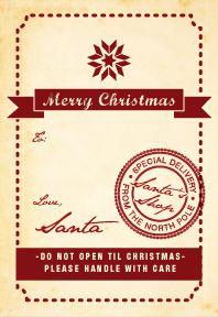 Santa Tag to Print