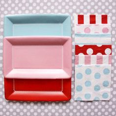 paper party, party plates, polka dots, color, party supplies