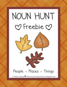 Noun Hunt Freebie