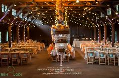 Gorgeous room and cake shot by Ben and Jodi Photography. Cake by Dolce Colpo, Lighting Design by Something New Entertainment. Rentals from Miller's Party Rental.