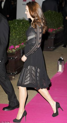 Kate (and bump) at the Action on Addiction charity gala in east London