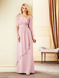 Alfred Angelo Bridesmaid Style 7265L in Loves First Blush