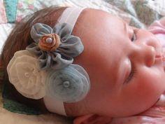 Infant Headband Infant Bow Flower Bow by MyKidsCuterBowtique, $11.99