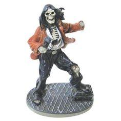Amazon.com: Small Rockstar Skeleton Vocalist Aquarium Ornament: Pet Supplies