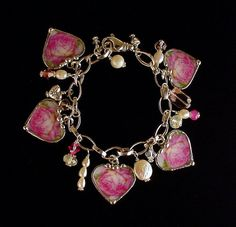 Dishfunctional Designs: Broken China Jewelry Charm Bracelets