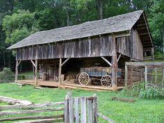 Old Appalachian Farm. Love the old wagon too.