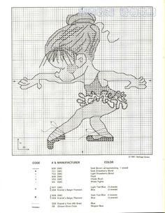 схемы вышивок балерины скачать бесплатно