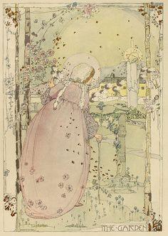 Jessie M King, The Garden, 1913 by Andrea Speziali, via Flickr