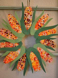 Indian corn- can use fingerprints or a q-tip to make kernels!