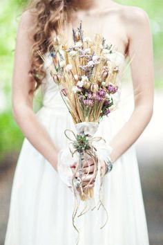 lovely creative bouquet for summer or fall