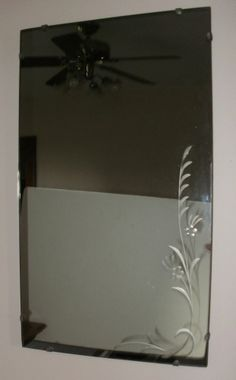 Antique / Vintage Hooker Glass & Mirror Co. Rectangle Mirror - Etched