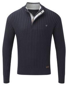 Vedoneire - Mens Half Zip Rib Jumper (4304) Navy blue, £54.99  #Vedoneire #Menswear #SS14 #Apparel #MensFashion #Fashion #Ireland #Irish #IrishBrands (http://www.vedoneire.co.uk/mens-half-zip-rib-jumper-4304-navy-blue/)