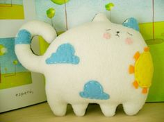 Day to Night reversible fat cat softie cat plush, pillow, big cats, felt, children toys, baby toys, fat cats, baby cats, kids toys