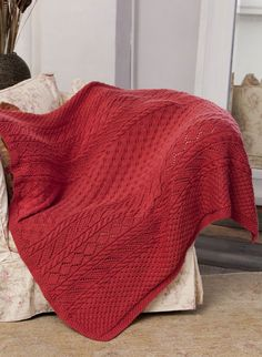 Caron International | Free Project | Lace Panel Throw