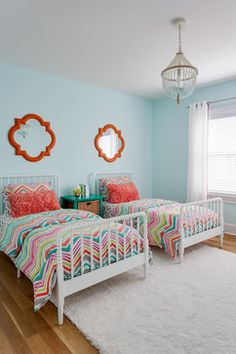 Girls Bedroom - transitional - Kids - New York - AHR Designs