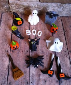 EDIBLE Fondant Cupcake Toppers Halloween Inspired by PartyNV