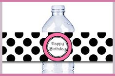 Free Printable Water Bottle Label @Nikki Bailey here's another one birthday, craft, printabl water, water bottle labels, free printabl, parti printabl, parti idea, bottl label, water bottles