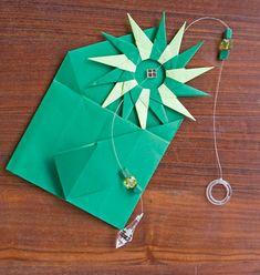 Móbile mandala em origami