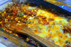 Tex-Mex Beef + Bean Casserole Bake #dinner #mexican #easy #cooking #food