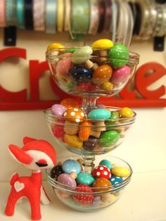 cute diy tiered bowls