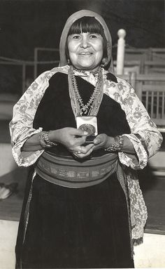 Marie Martinez, Pueblo Indian woman, via Flickr.