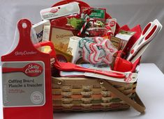 Dollar store has Betty Crocker Kitchen tools-put them together for an awesome shower gift.
