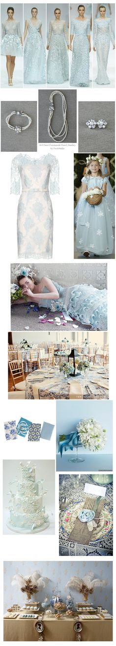 Baby Blue Themed Wedding