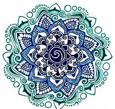 Mandala, blue + green Love how it's inspired by water. This is a good idea for my piece.