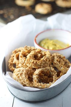Baked Everything Pretzel Onion Rings