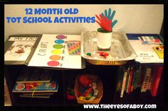 12 month old baby toddler - tot school activities - learning ideas - homeschool