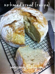 No-Knead Bread {Recipe} #simple #bread #recipe