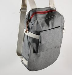 Twill backpack.