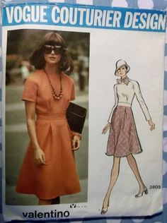 Valentino  Couturier Design Dress Vogue 2805 Pattern by DotisSpot, $29.00